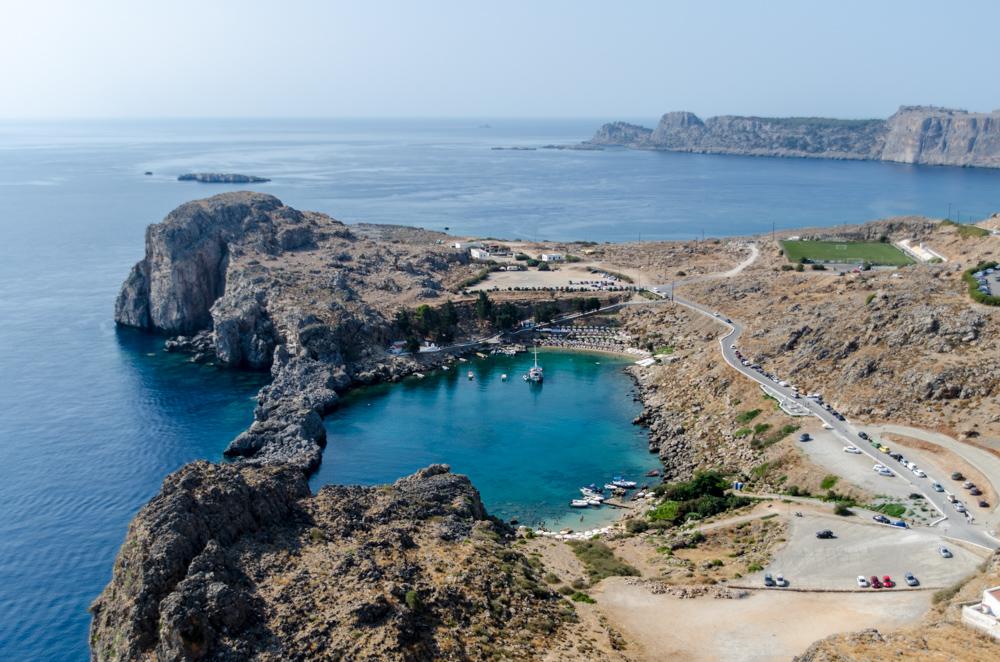 St Paul Bay vista dall'Acropoli di Lindos