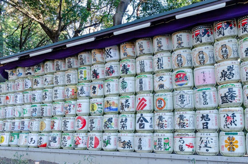Meiji Jingu Shrine - il sake