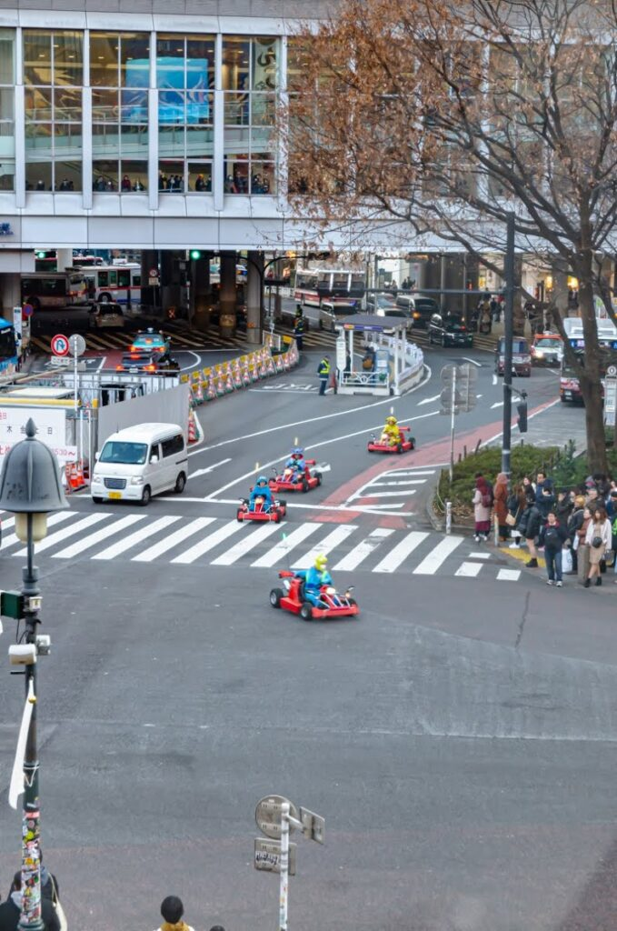 Super Mario Kart a Shibuya